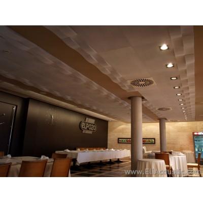 Reducir ruido en restaurante con paneles acusticos de diseño