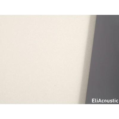 Detalle de espuma acustica de poro abierto EliAcoustic Regular 60.4 First-white en color blanco