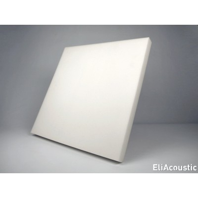 EliAcoustic Regular 60.4 First-White. Panel Acustico liso de espuma acustica blanca