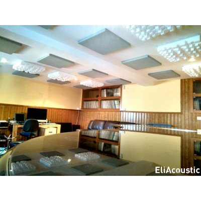 Sala de ensayo de jazz con EliAcoustic Regular Panel 60.4 Pure Beige