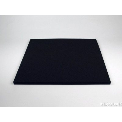 Regular panel 60.2 Pure Black. Panel Acustico de espuma acustica coloreada