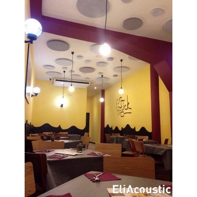 Restaurante decorado con EliAcoustic Circle