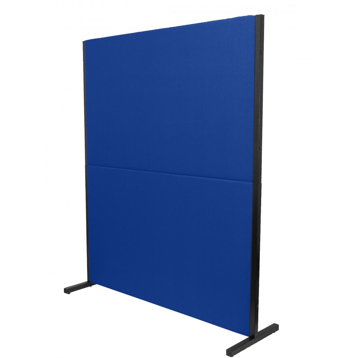 biombo acustico textil azul