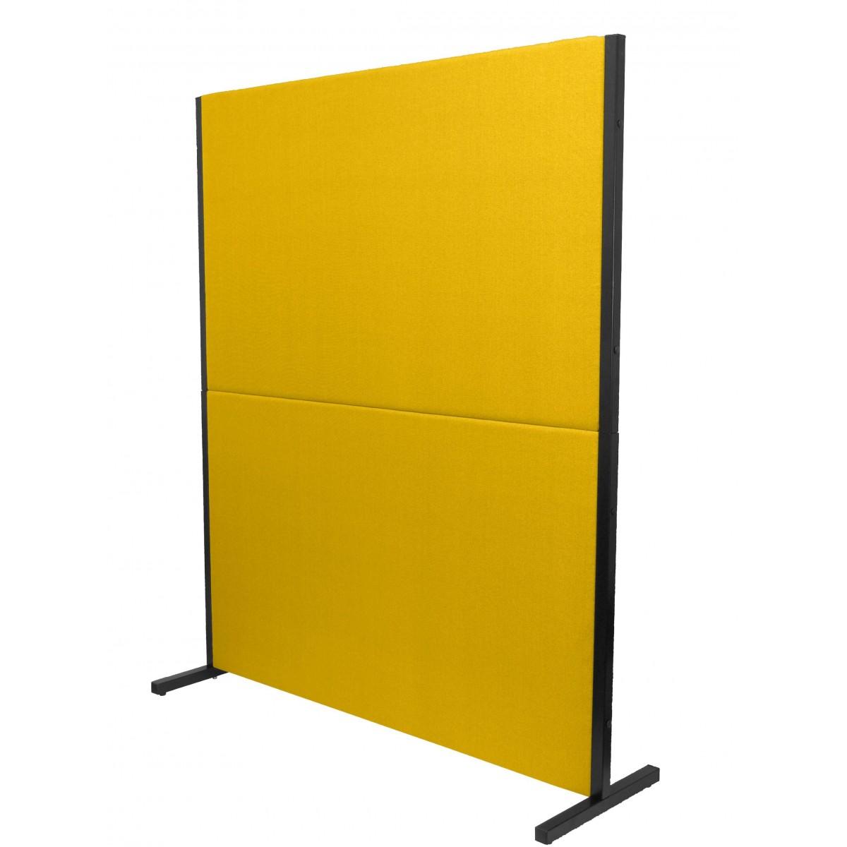 biombo acustico textil amarillo
