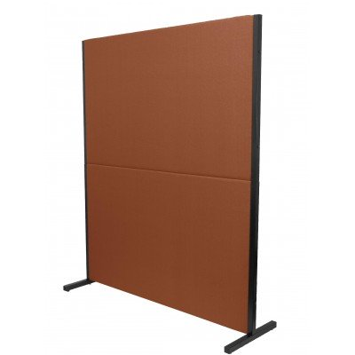 biombo acustico textil marron