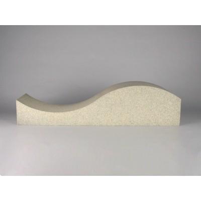 panel acustico forma de onda eliacoustic surf pure color beige