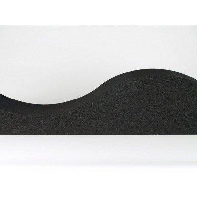 detalle de panel acustico eliacoustic surf pure black