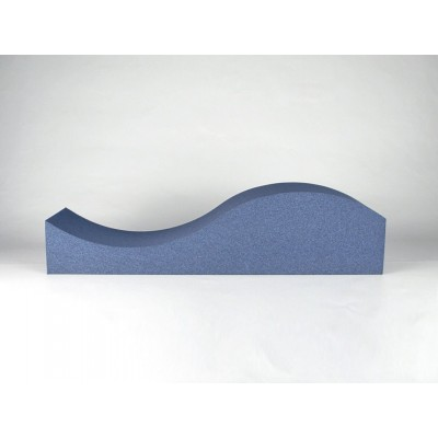 vista lateral del panel acustico con forma de onda EliAcoustic Surf Pure Dark Blue