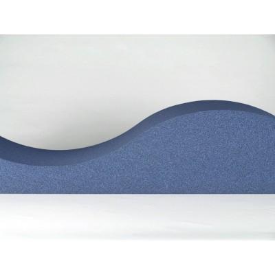 Detalle de ondas de los paneles acusticos EliAcoustic Surf Pure Dark Blue