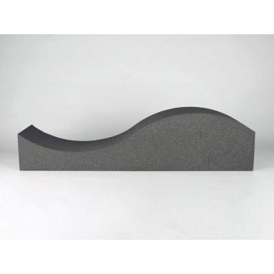 Vista lateral del panel acustico eliacoustic surf pure dark grey
