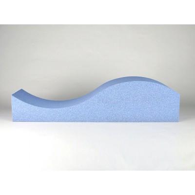 Forma de onda de los paneles acusticos eliacoustic surf pure light blue