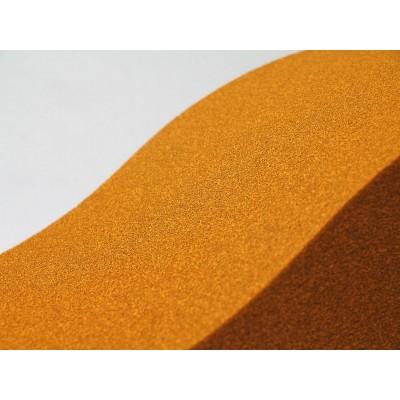 Detalle de los paneles de espuma acustica fonoabsorbente EliAcoustic Surf Pure Orange