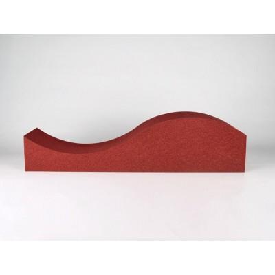 paneles acusticos con diferentes colores y formas. EliAcoustic Surf Pure Red