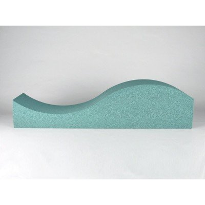 Vista lateral de panel acustico EliAcoustic Surf Pure Turquoise
