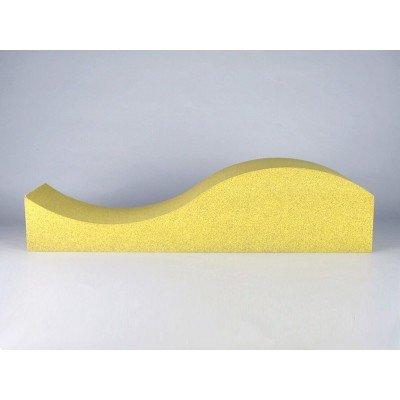 Vista detalle del panel acustico EliAcoustic Surf Pure Yellow