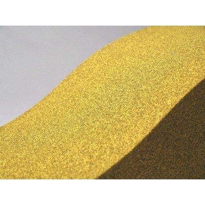 Detalle de color y textura de los paneles acusticos EliAcoustic Surf Pure Yellow