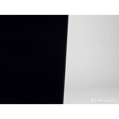 panel acustico con acabado textil en color negro
