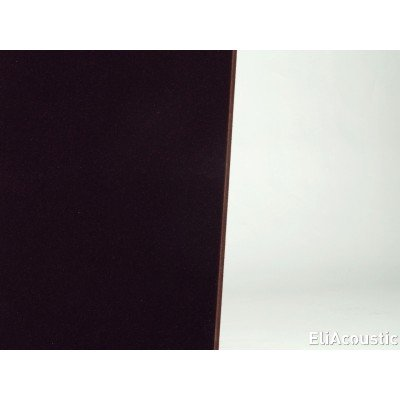 panel acustico textil en marron chocolate