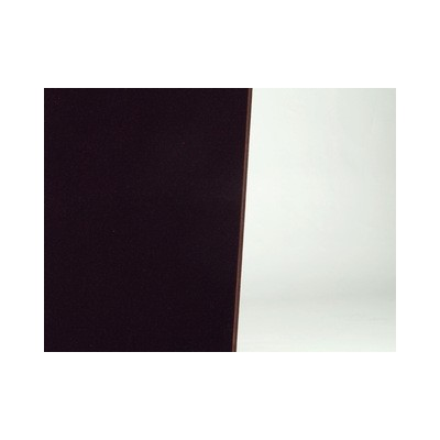 PAnel acustico textil con acabado color chocolate