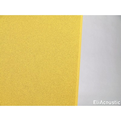 detalle color de panel acustico regular 60.2 pure amarillo
