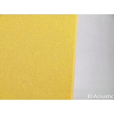 detalle color de panel acustico regular 60.2 pure amarillo