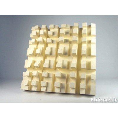 difusor acustico eliacoustic fussor 3d pure beige