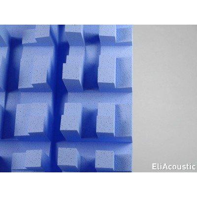 difusor acustico para reducir modos propios y focalizaciones EliAcoustic Fussor 3D pure Light blue
