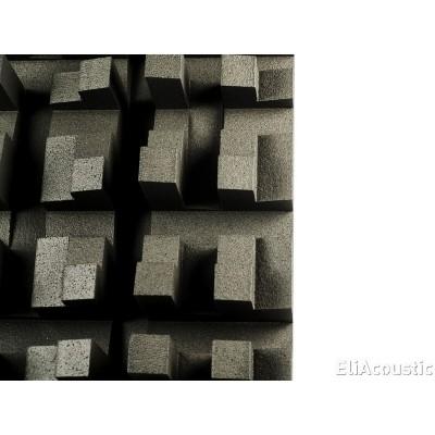 difusor acustico eliacoustic fussor 3d pure black