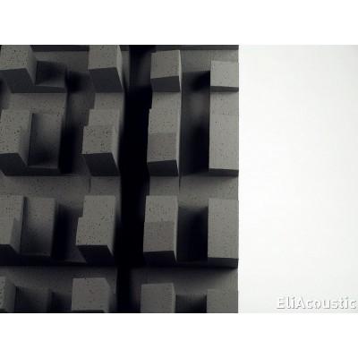 difusor acustico eliacoustic fussor 3d pure dark grey