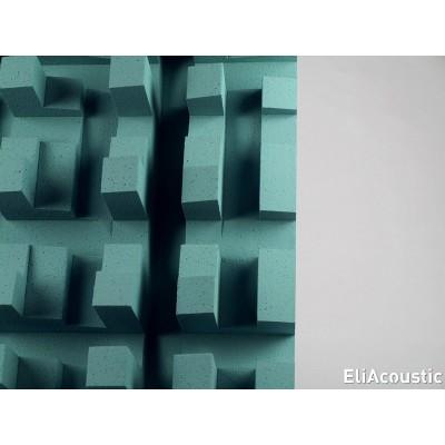 Difusor acustico y sonido de color Turquesa para mejorar la acustica. Eliacoustic Fussor 3D Pure Turquoise