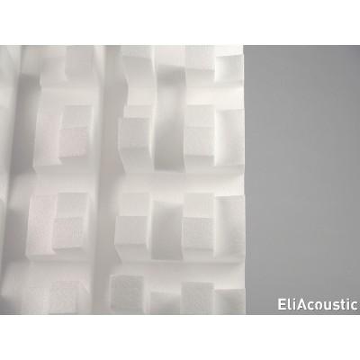 Detalle de difusion de sonido con EliAcoustic Fussor 3D Pure White