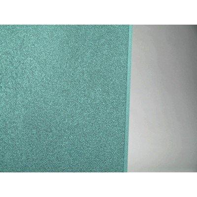detalle de color y acabado del panel acustico eliacoustic curve pure turquoise (turquesa)