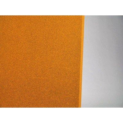 detalle de color del panel acustico eliacoustic pure orange (naranja)