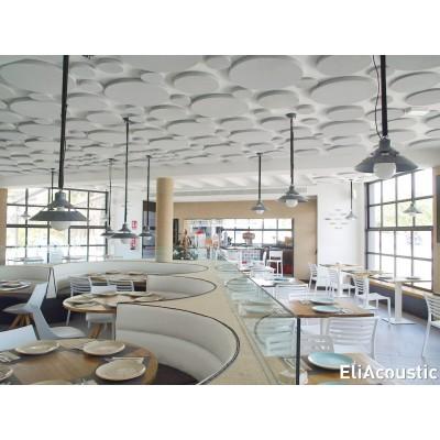 circulos acusticos para mejorar el confort acustico en un restaurante