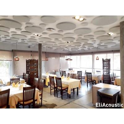 paneles acusticos redondos para restaurantes