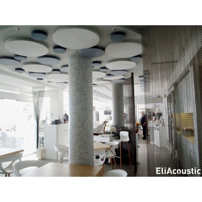 circulos acusticos y decorativos que reducen el ruido en restaurantes