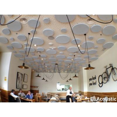 circulos acusticos para reducir reverberacion (no insonorizacion) en restaurante
