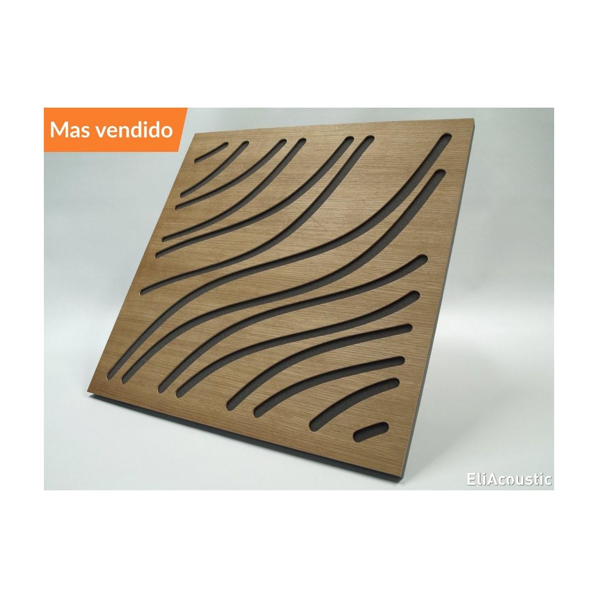 EliAcoustic Marine Luxury White. Panel Acustico de madera para instalar en paredes, techo, esquina o falso techo.