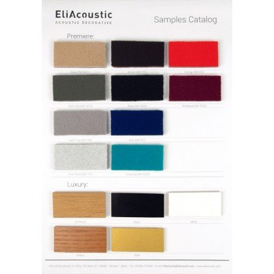 Muestrario de colores Premiere y Luxury de EliAcoustic