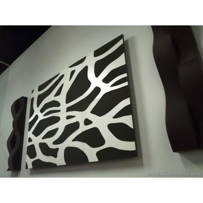 Panel Acústico EliAcoustic SeaLand Luxury White montado en pared