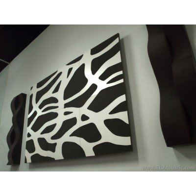 Panel Acústico EliAcoustic SeaLand Luxury White montado en pared