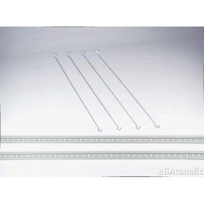 Sistema para colgar paneles acusticos de 120 x 60 cm