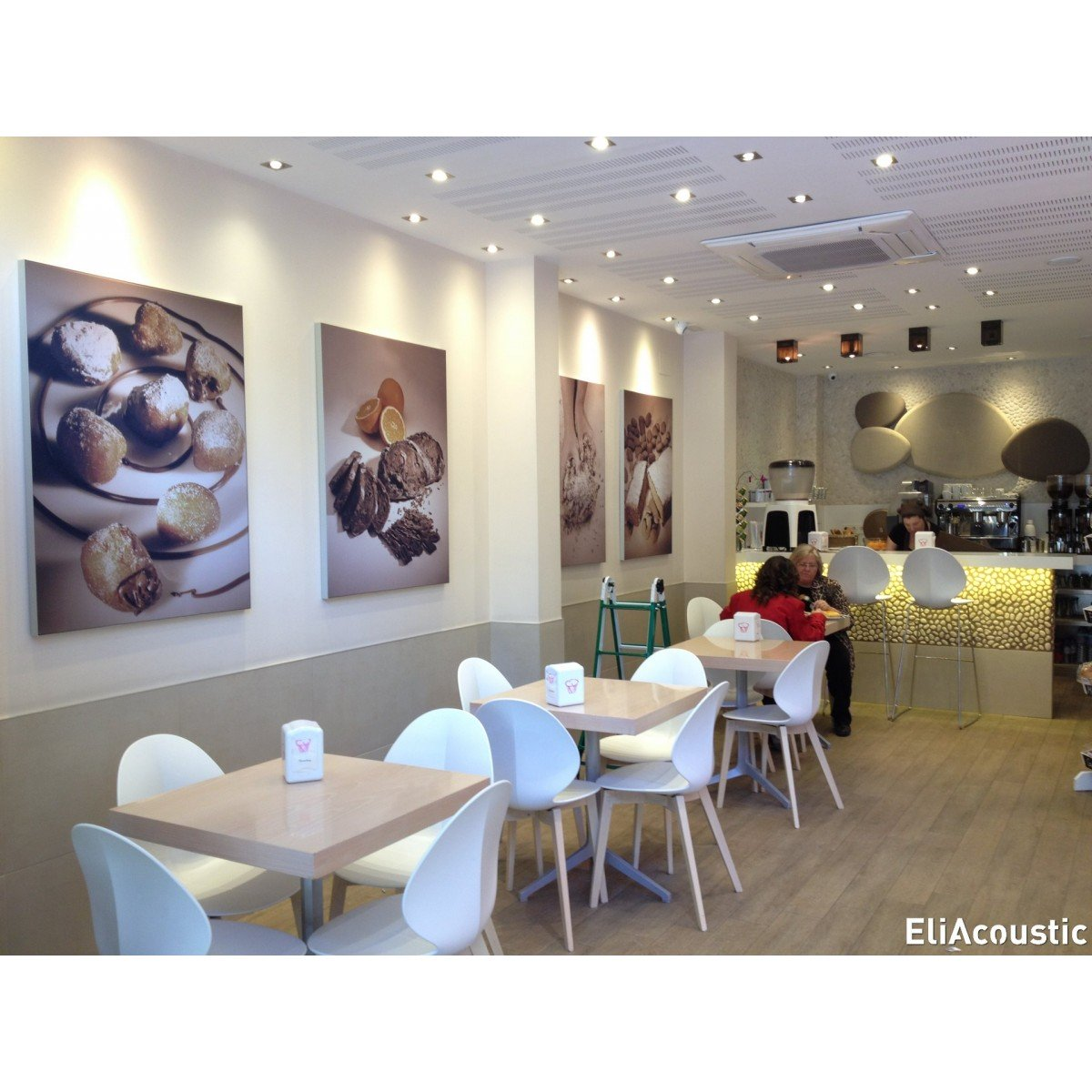 Cuadro Acustico fonoabsorbente para reducir ruido en oficinas, cafeterías, halls, restaurantes...