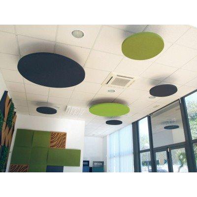 Paneles acusticos redondos colgados de techo