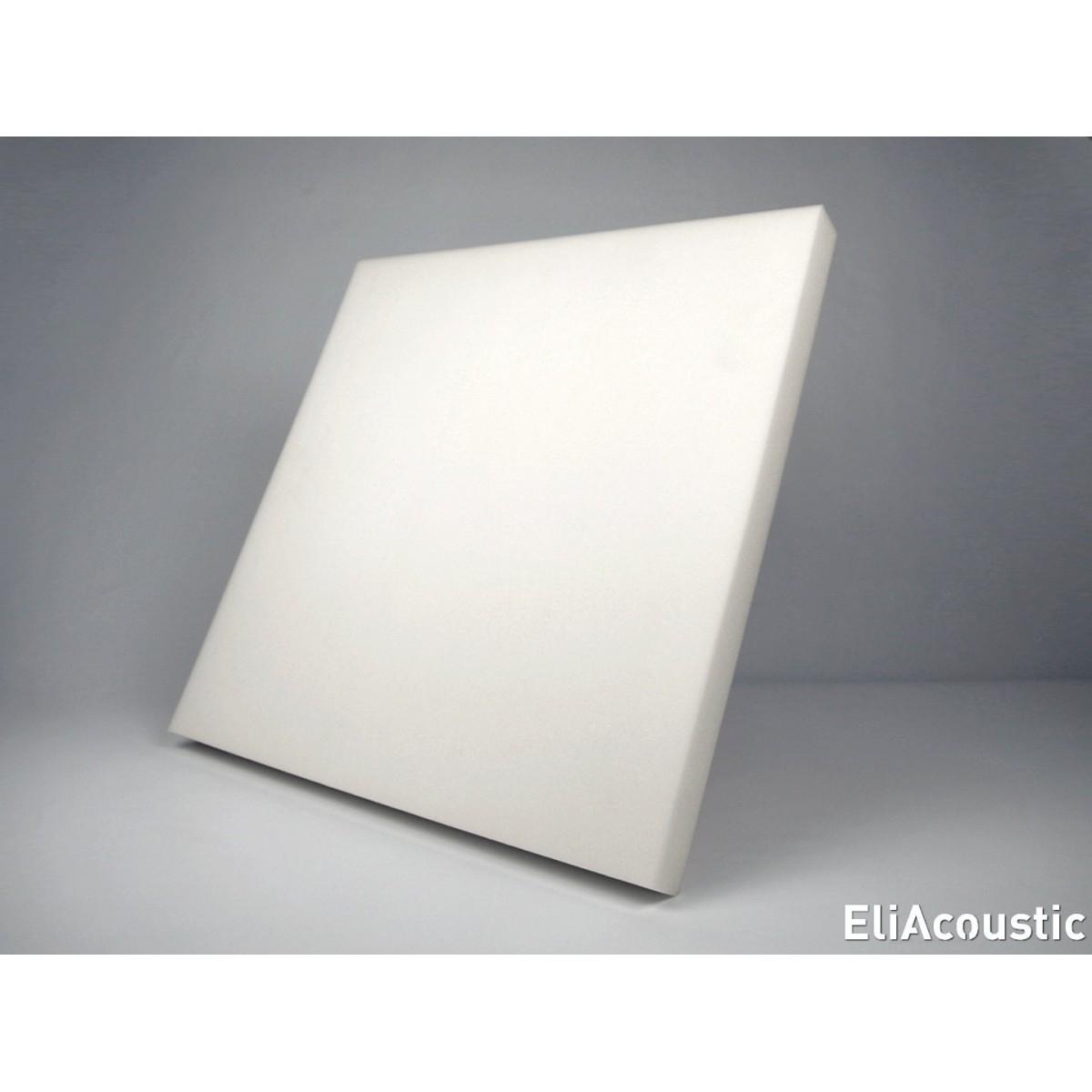 EliAcoustic Regular 60.4 First-White. Panel Acustico liso de espuma acustica blanca
