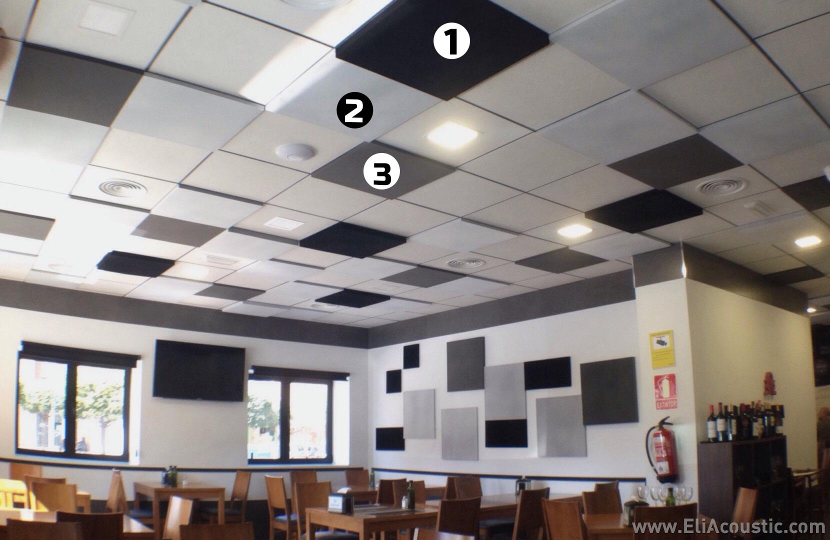 panel acustico liso techo registrable