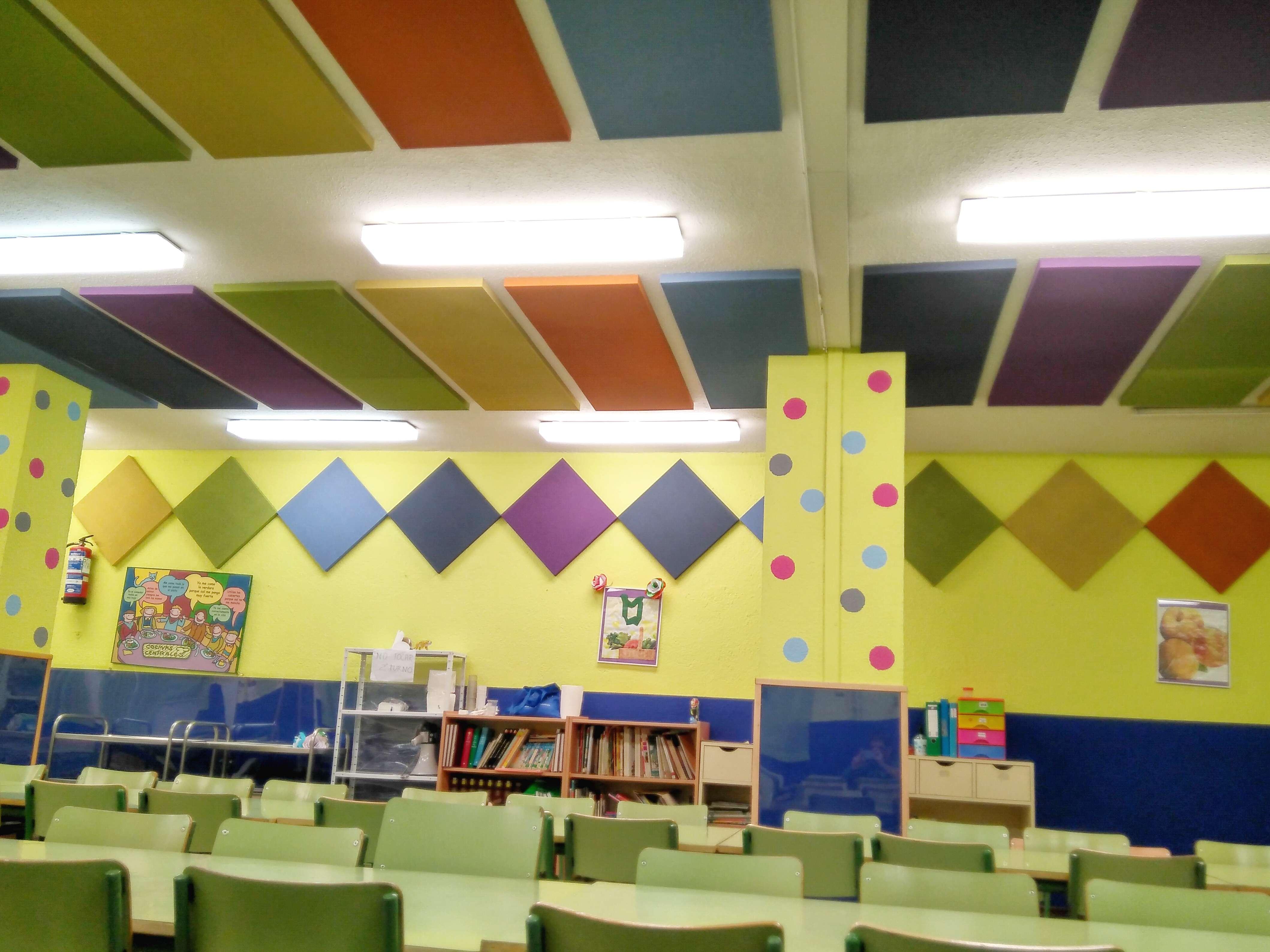 Paneles Acusticos comedor colegio - EliA