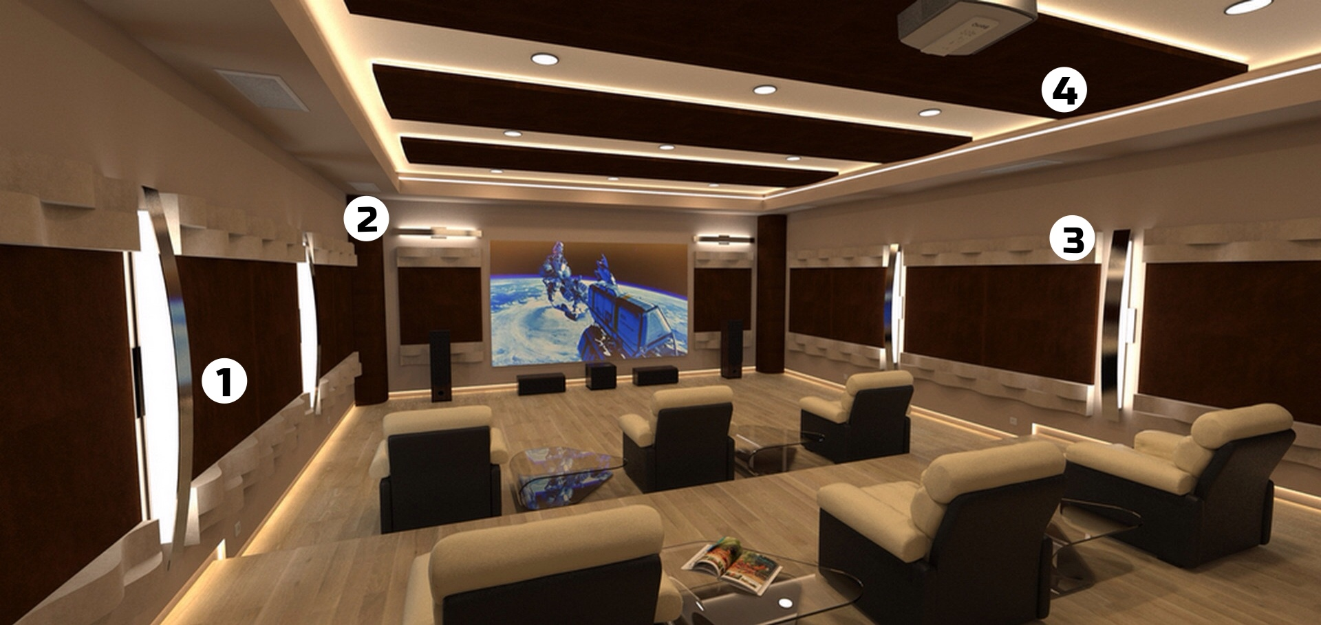 diseño acustico home theatre cinema
