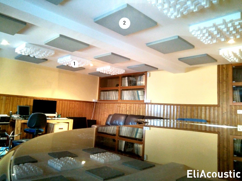 Sala de piano con paneles acusticos EliAcoustic
