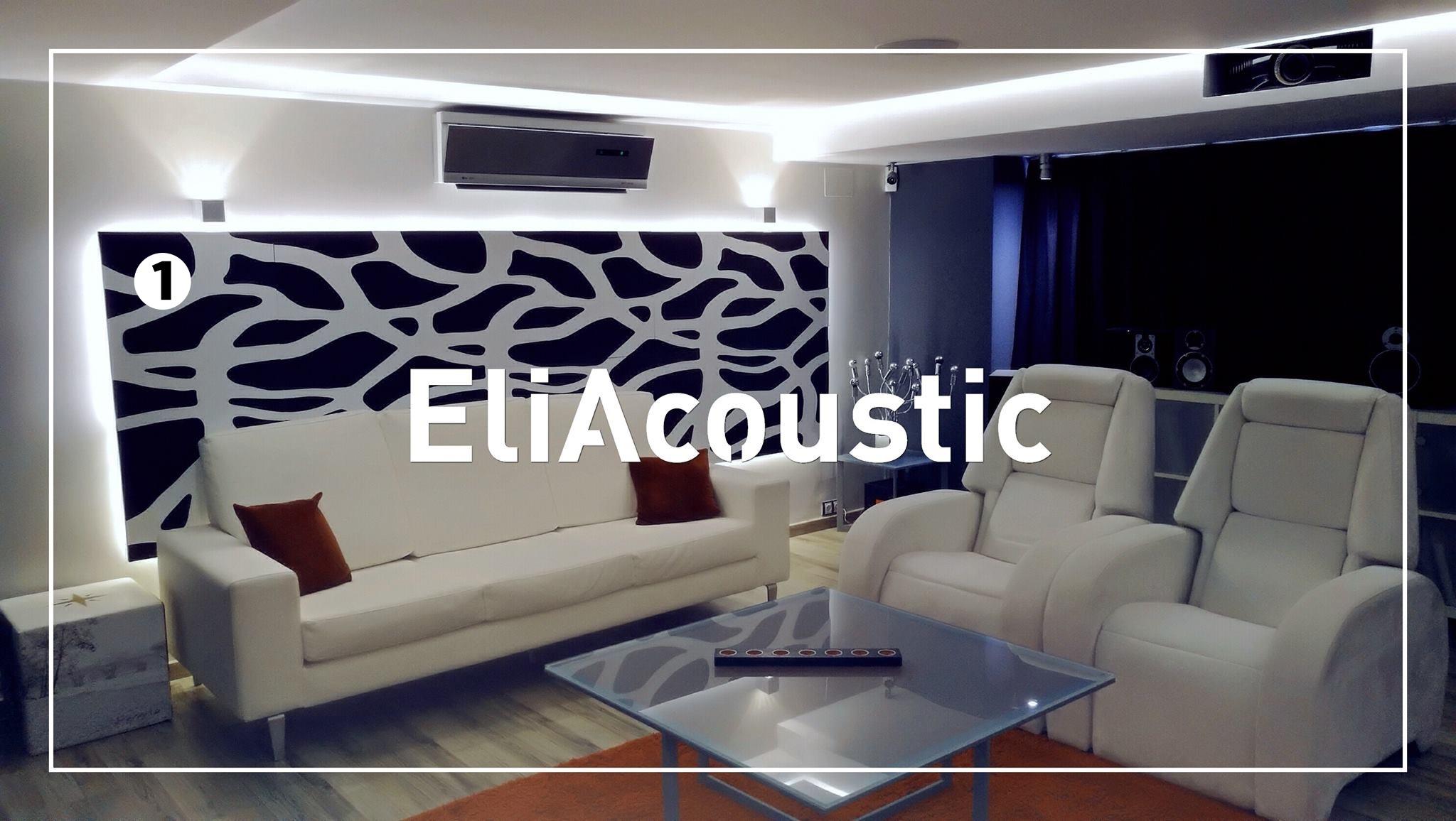 paneles acusticos decorativos pared en home-cinema